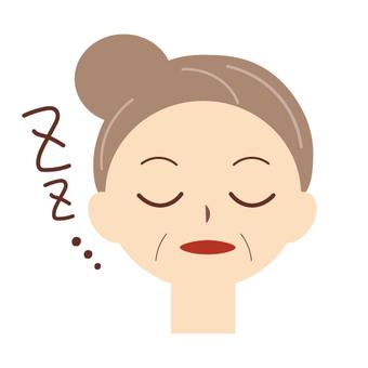 Older women (sleeping face)