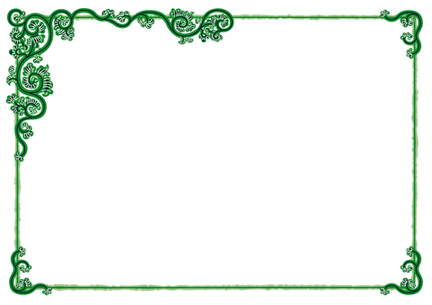 Arabesque pattern frame (sword currant _ green baby)