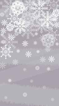 Snow crystal wallpaper Vertical 3