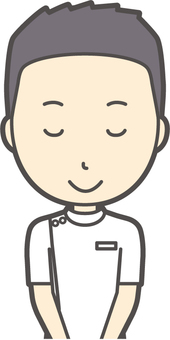 Male nurse short hair - 026 - bust