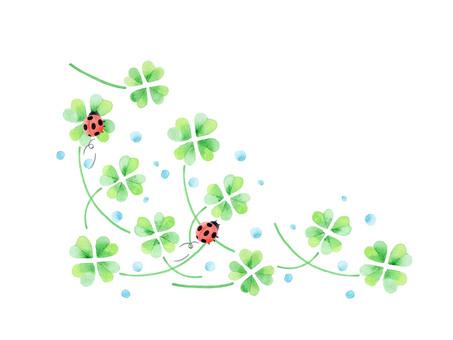 Four leaf clover ★ 0117-F
