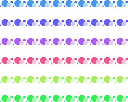 Polka dots _ ocean line