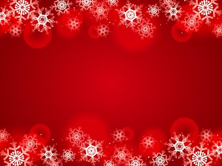 Snow flake, winter scene, red