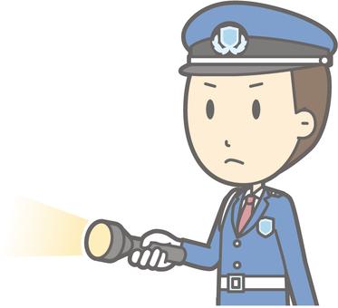 Security guard - light - bust