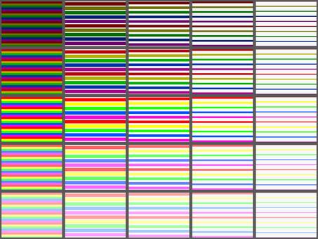 5 colors border 25 kinds set
