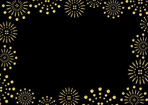 Gold fireworks frame