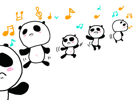 Tanzender Panda 2