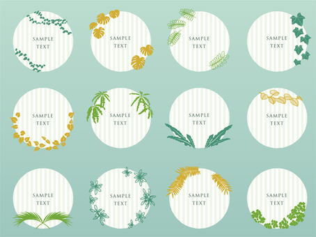 Plant round label material collection