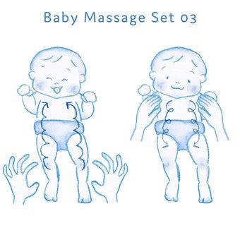 Baby massage set 03