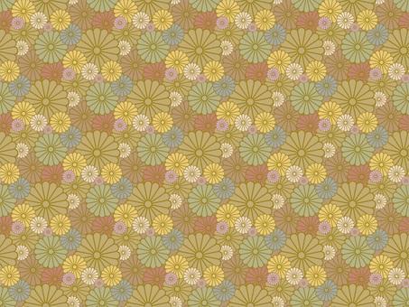 Chrysanthemum random pattern _ yellow