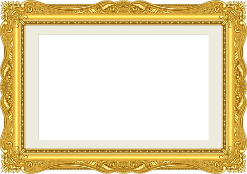 Picture frame luxury gold mat