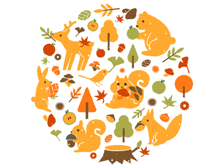 Autumn taste and animals