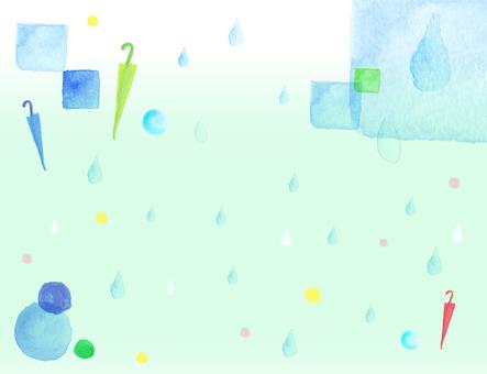 Watercolor material 4 Rain