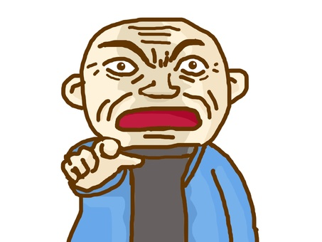 An angry man.