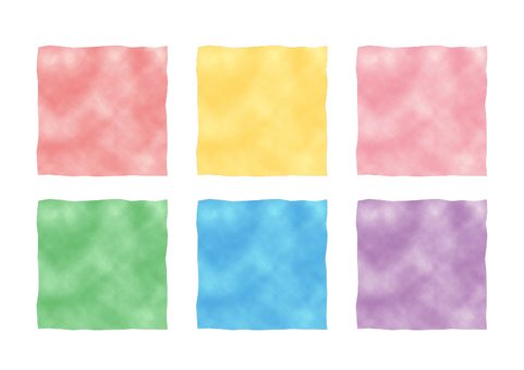 Watercolor square frame 01