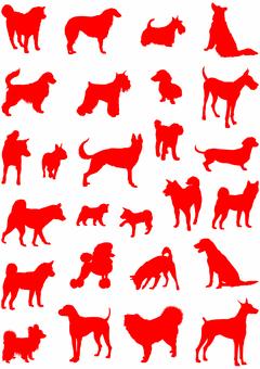 犬シルエット1