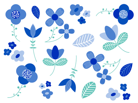 Scandinavian flower illustration