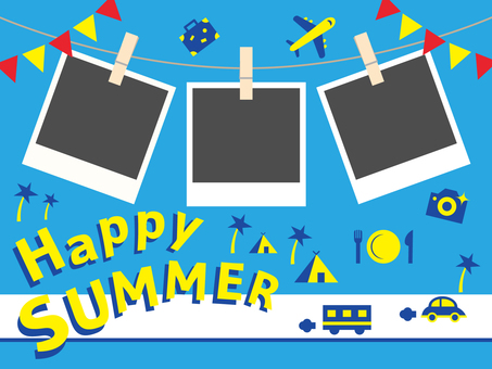Photo frame happy summer