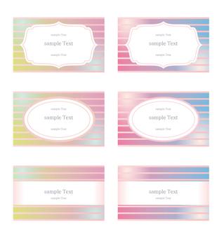 Gradient stripe business card set 2