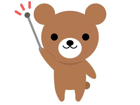 동물 곰 지시봉