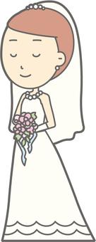 Bride Dress - Walking Smile - Full Length