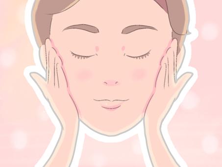 Female makeup cosmetics makeup material