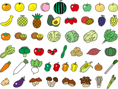 Vegetable _ fruit set