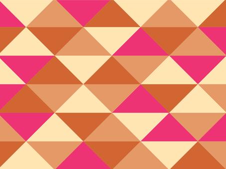 Texture triangular mosaic orange retro