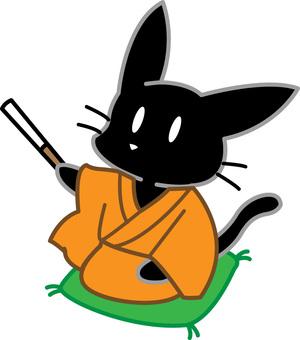 一隻黑貓講落語