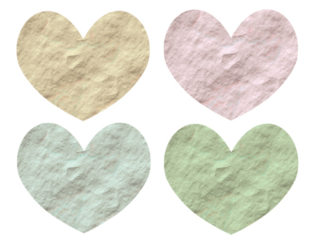 Wrinkled paper - Heart