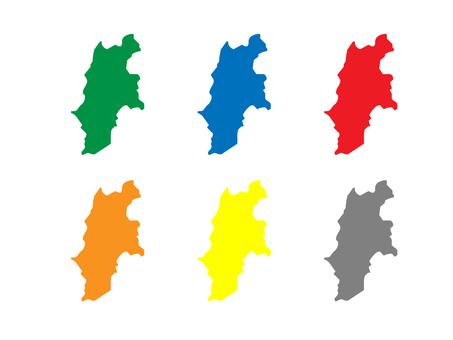Nagano Prefecture Map Set