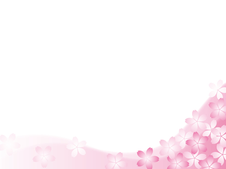 Cherry blossom motif background material 14