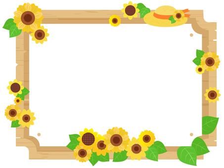 Summer sunflower seasonal wooden frame single item