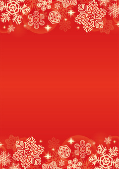 Christmas snow background red vertical position