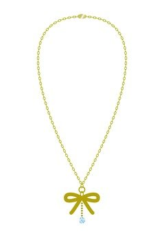 Ribbon motif necklace