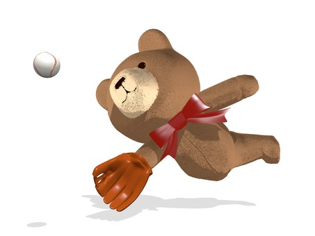 Teddy Bear diving catch