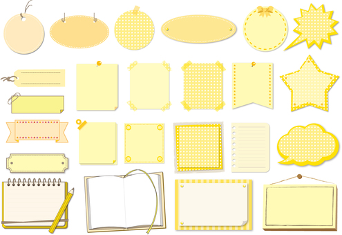 Title frame set Yellow