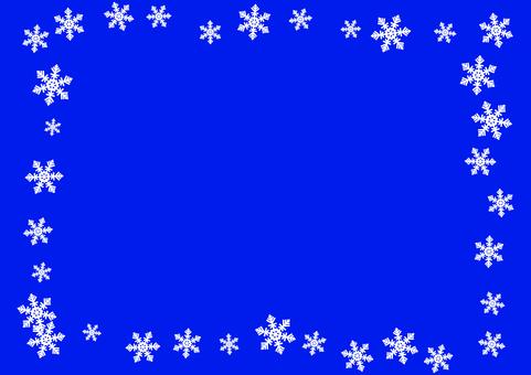 Simple snow crystal card 5