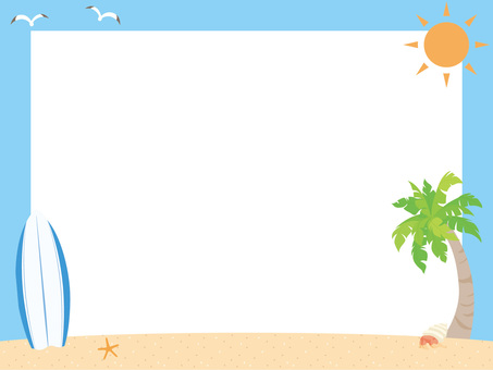 모래 사장과 서핑 보드