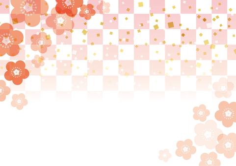 梅の花_和風背景04
