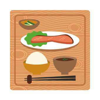 Baked fish set meal