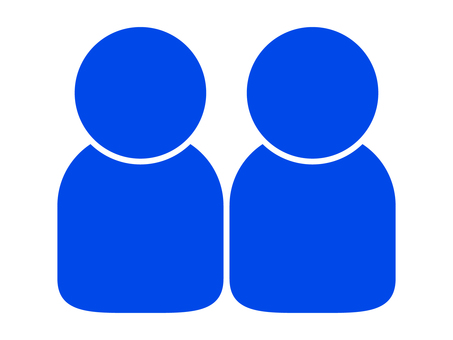 People icon (2 people) Blue (blue)