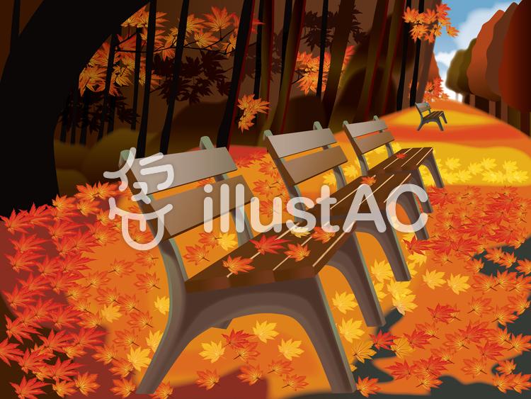 秋景色のイラスト