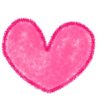 Illustration of crayonish heart