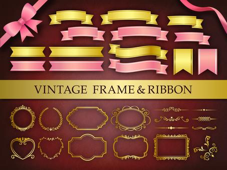 Vintage ribbon & amp; frame