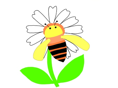 Honey bees stuck in flowers