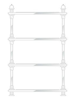 Antique furniture shelf