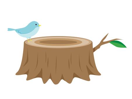 Stump with birds