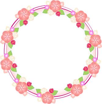 Fashionable plum ring frame 01