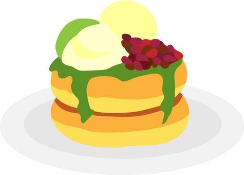 Azuki pancake